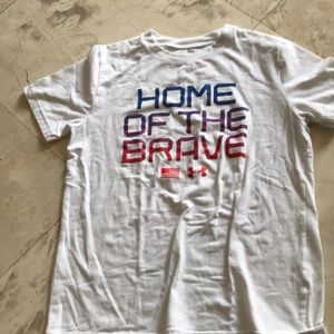 Other - Ua Boys home of the brave shirt